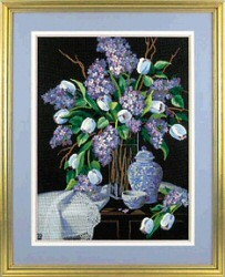 Dimensions Lilacs and Lace Embroidery Kit