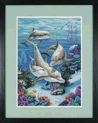 The Dolphins Domain -  Cross Stitch Kit