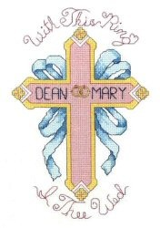 With This Ring (Includes Rings) -  Cross Stitch Kit
