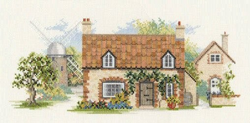 Derwentwater Designs Old Mill Lane Cross Stitch Kit
