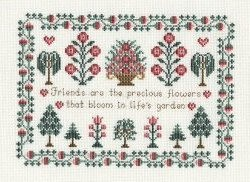 Derwentwater Designs Friends Sampler Cross Stitch Kit