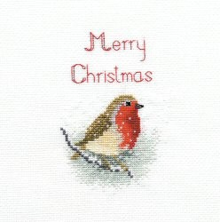 Derwentwater Designs Snow Robin Christmas Card Making Cross Stitch Kit