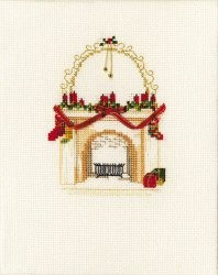 Derwentwater Designs Christmas Fireplace Card Making Cross Stitch Kit