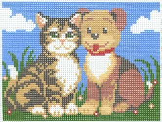 Cat and Dog -  Tapestry Kit