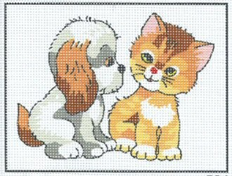 Puppy and Kitten -  Tapestry Kit