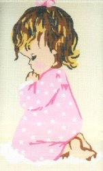 Girl Praying -  Tapestry Kit