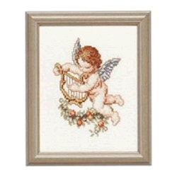 Pako Angel with Lyre Cross Stitch Kit