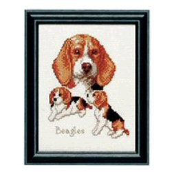 Beagles -  Cross Stitch Kit