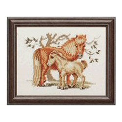 Mare and Foal -  Cross Stitch Kit