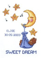 Pako Sweet Dreams Birth Sampler Cross Stitch Kit