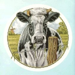 Black and White Cow -  Cross Stitch Kit