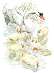 Swan Family -  Cross Stitch Kit