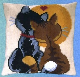 Pako Cats in Love Cross Stitch Kit
