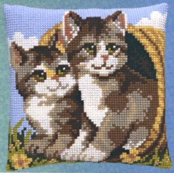 Pako Two Cats in a Basket Cross Stitch Kit
