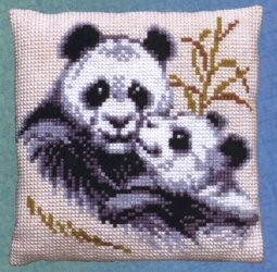 Two Pandas -  Cross Stitch Kit