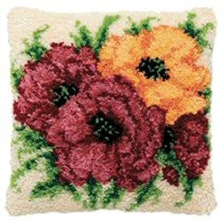 Pako Flowers Latch Hook Rug Kit