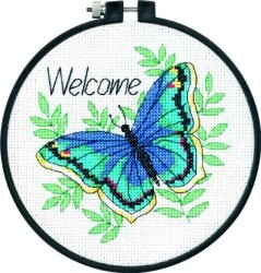 Welcome Butterfly -  Cross Stitch Kit