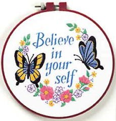 Dimensions Believe in Yourself Embroidery Kit