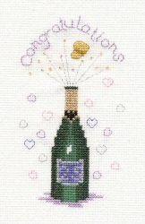 Champagne -  Cross Stitch Kit