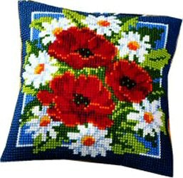 Vervaco Poppies and Daisies Cross Stitch Kit