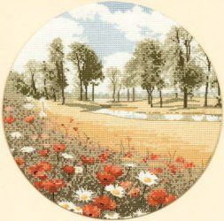 Heritage Summer Meadow - Aida Cross Stitch Kit