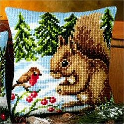 Vervaco Squirrel and Robin Cross Stitch Kit