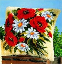 Poppies and Daisies -  Latch Hook Kit