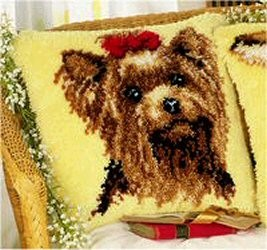 Vervaco Yorkshire Terrier Cushion Latch Hook Kit