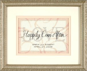 Dimensions Happily Ever After Wedding Sampler Cross Stitch Kit