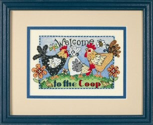 Dimensions Welcome To The Coop Cross Stitch Kit
