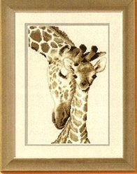 Vervaco Giraffe Family Cross Stitch Kit