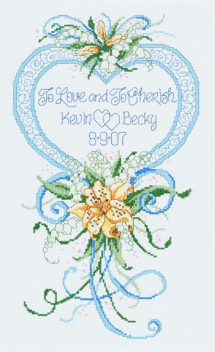 Cherish Wedding Heart -  Cross Stitch Kit