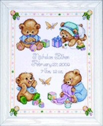 Baby Bears Sampler -  Cross Stitch Kit