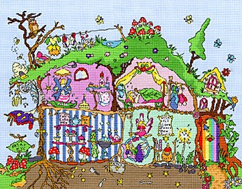 Bothy Threads Fairy Hill Cross Stitch Kit