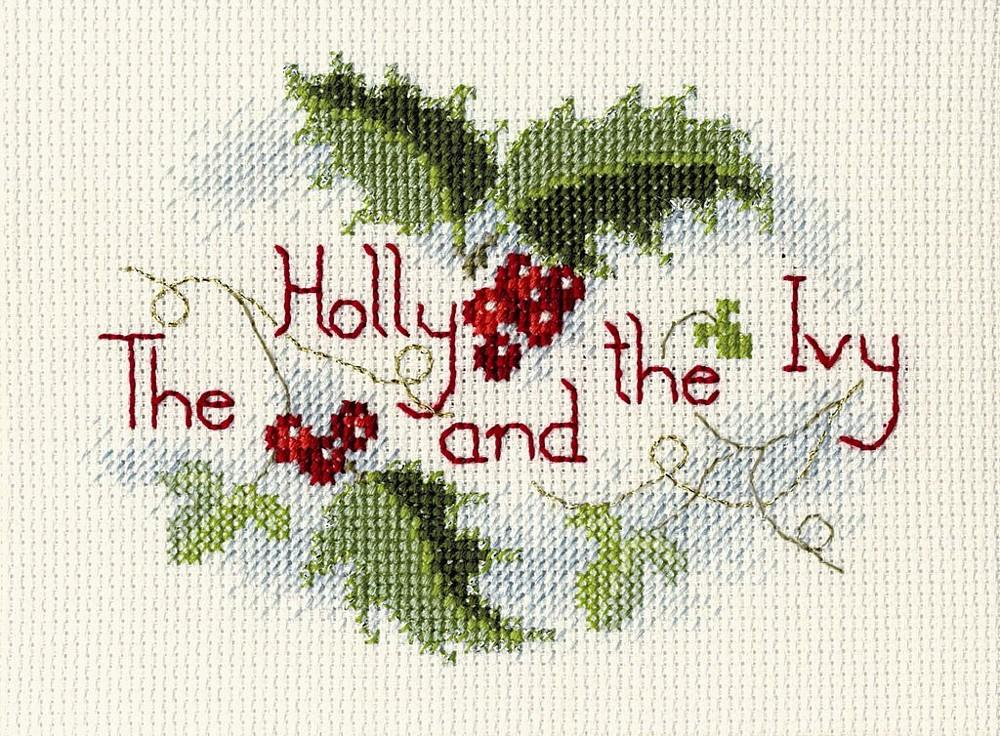 The Holly and the Ivy -  Christmas Cross Stitch Kit