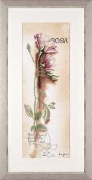 Lanarte Rosa - Botanical Cross Stitch Kit