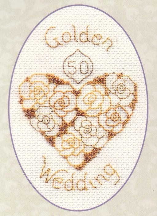 Golden Wedding -  Cross Stitch Kit