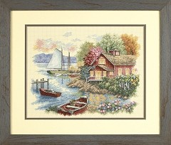 Dimensions Peaceful Lake House Cross Stitch Kit