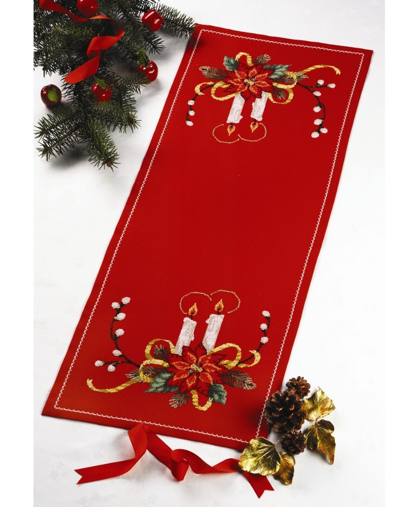 Permin Candles Table Runner Cross Stitch Kit