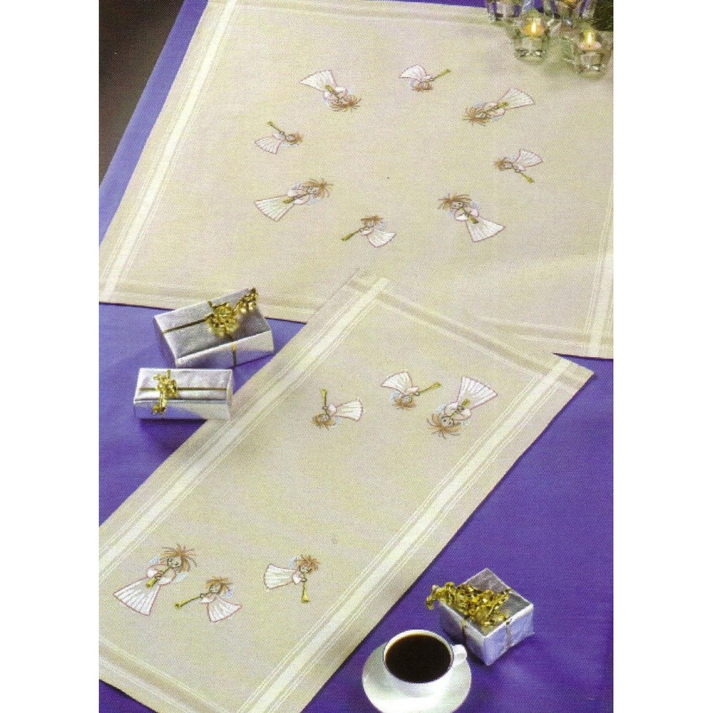 Permin Musical Angels Table Runner Embroidery Kit