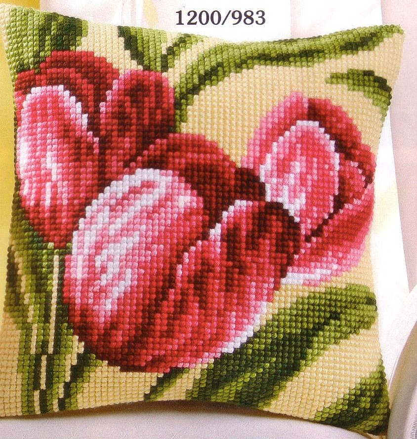 Vervaco Red Tulips Cross Stitch Kit