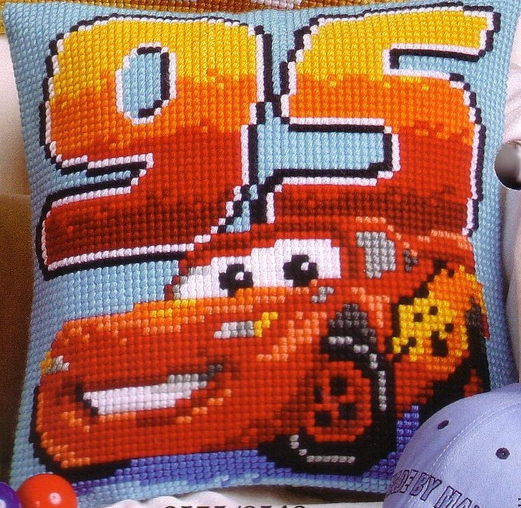 Lightning McQueen -  Cross Stitch Kit