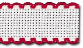 Aida Band - 14 count - 19 White/Red (7107)