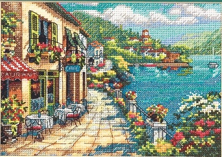 Dimensions Overlook Cafe Cross Stitch Kit