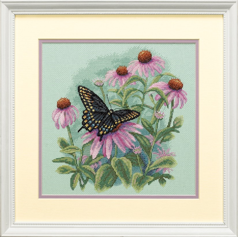 Butterfly and Daisies -  Cross Stitch Kit
