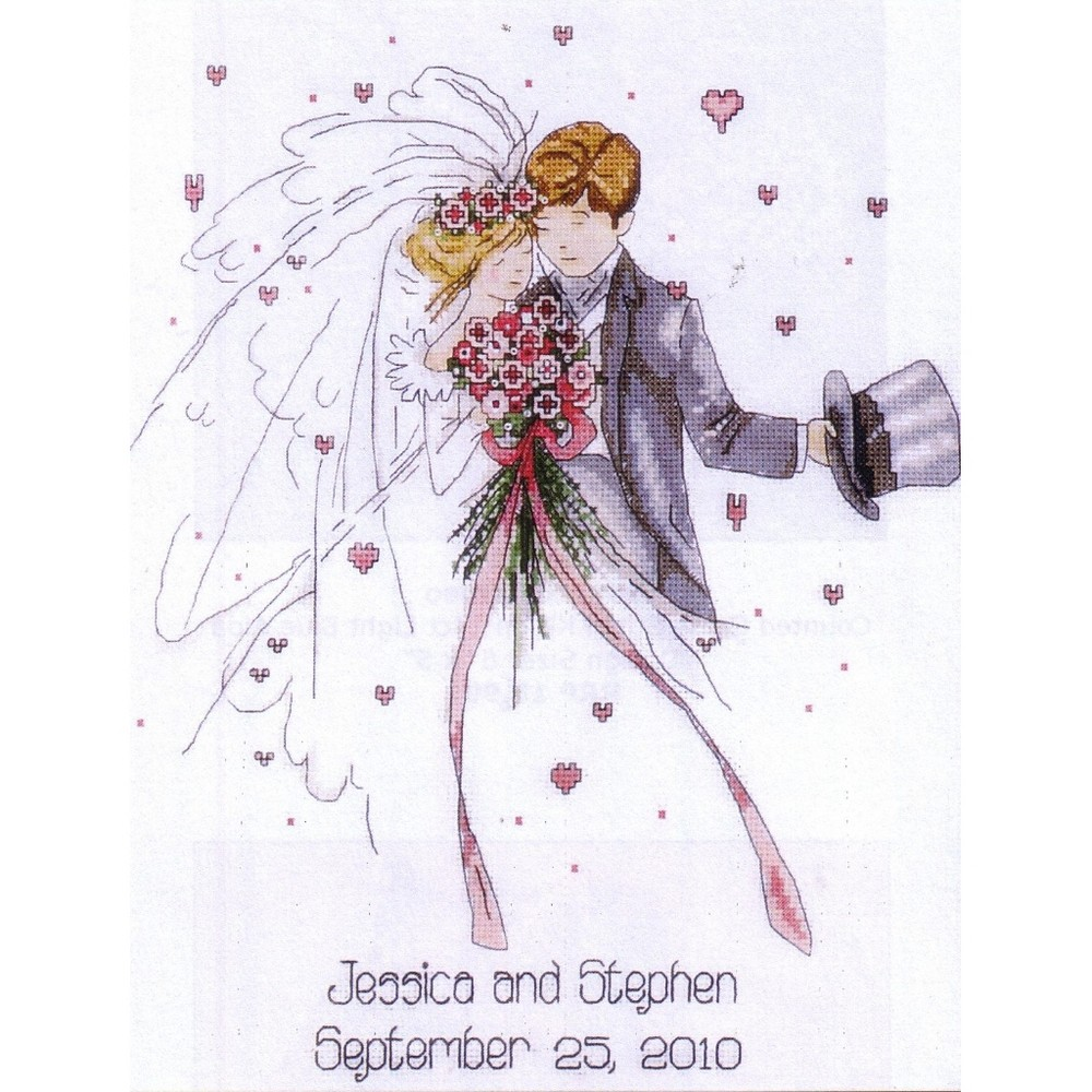 Wedding Couple -  Cross Stitch Kit