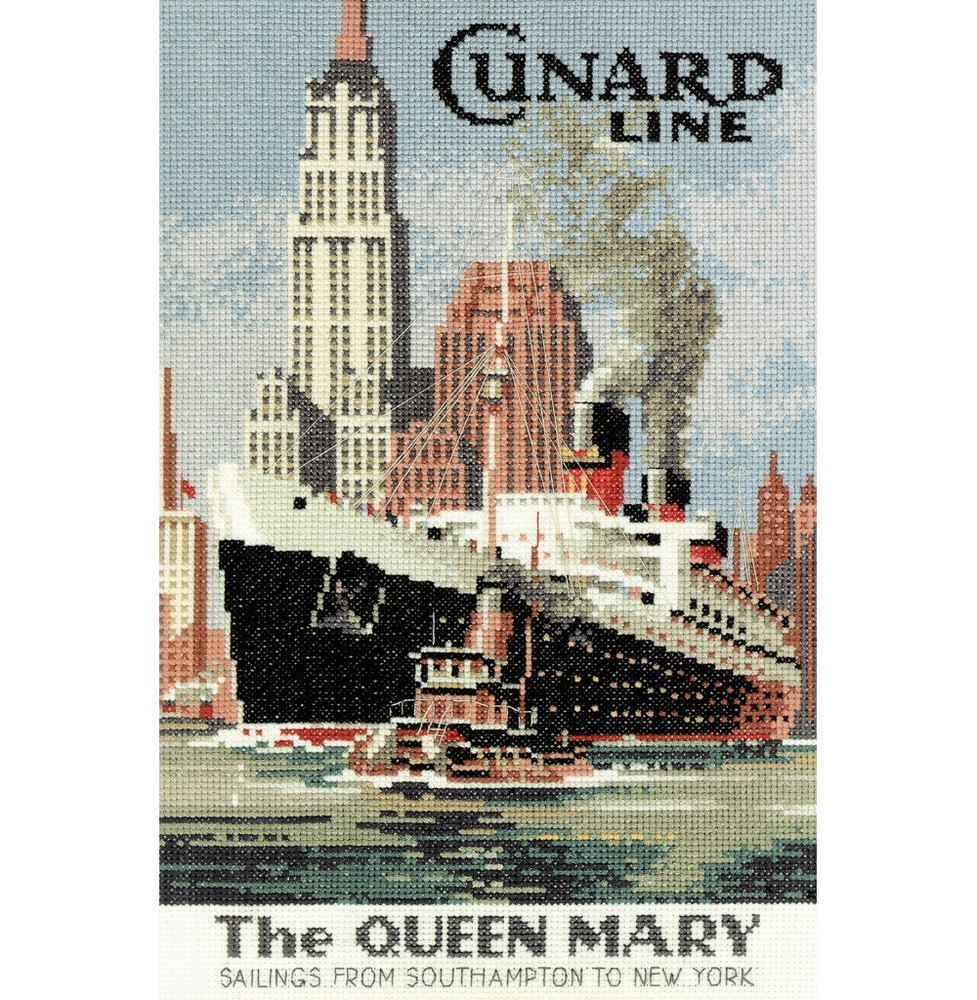 The Queen Mary - Aida -  Cross Stitch Kit