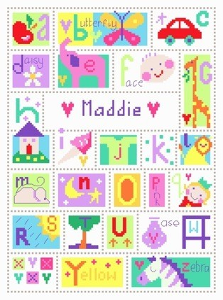 Alphabet -  Cross Stitch Kit