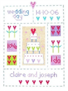 Wedding Sampler -  Cross Stitch Kit