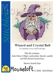 Wizard and Crystal Ball -  Cross Stitch Kit